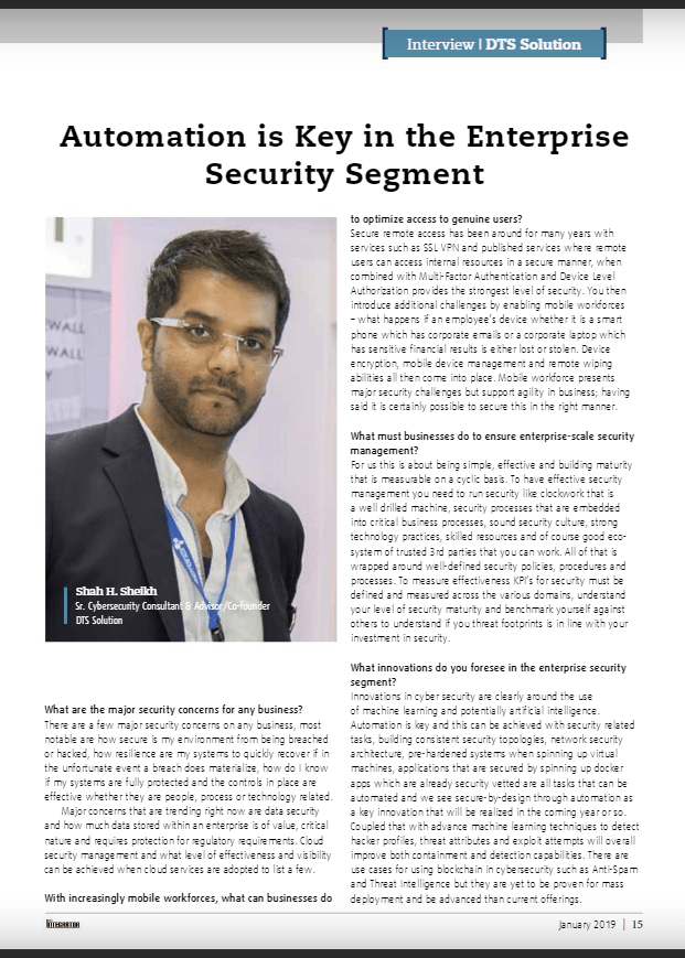 Automation is key in the enterprise security segment