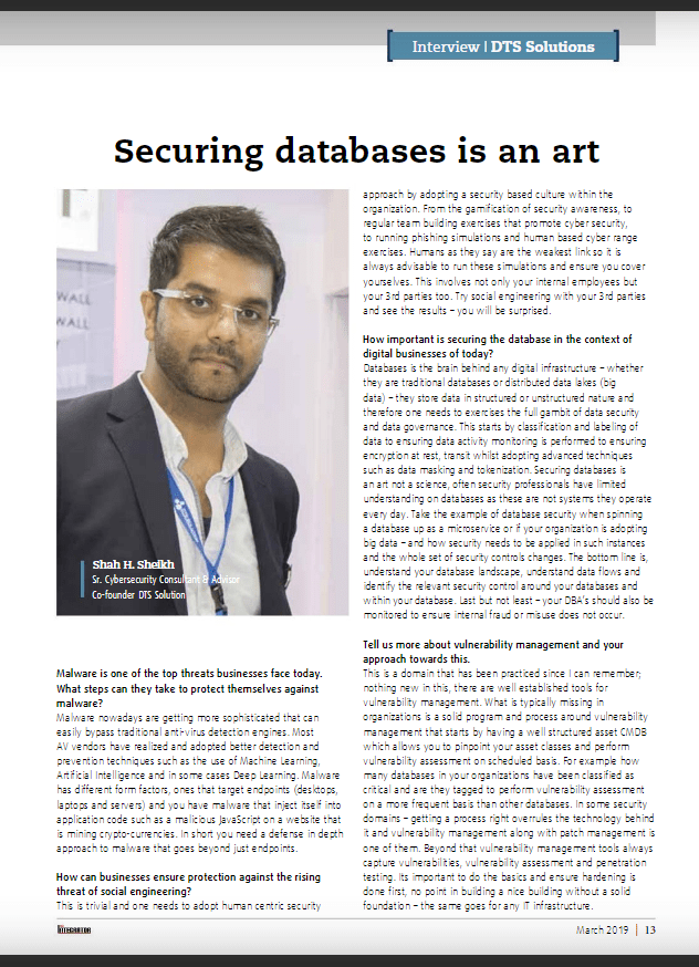 Securing Databases in an Art