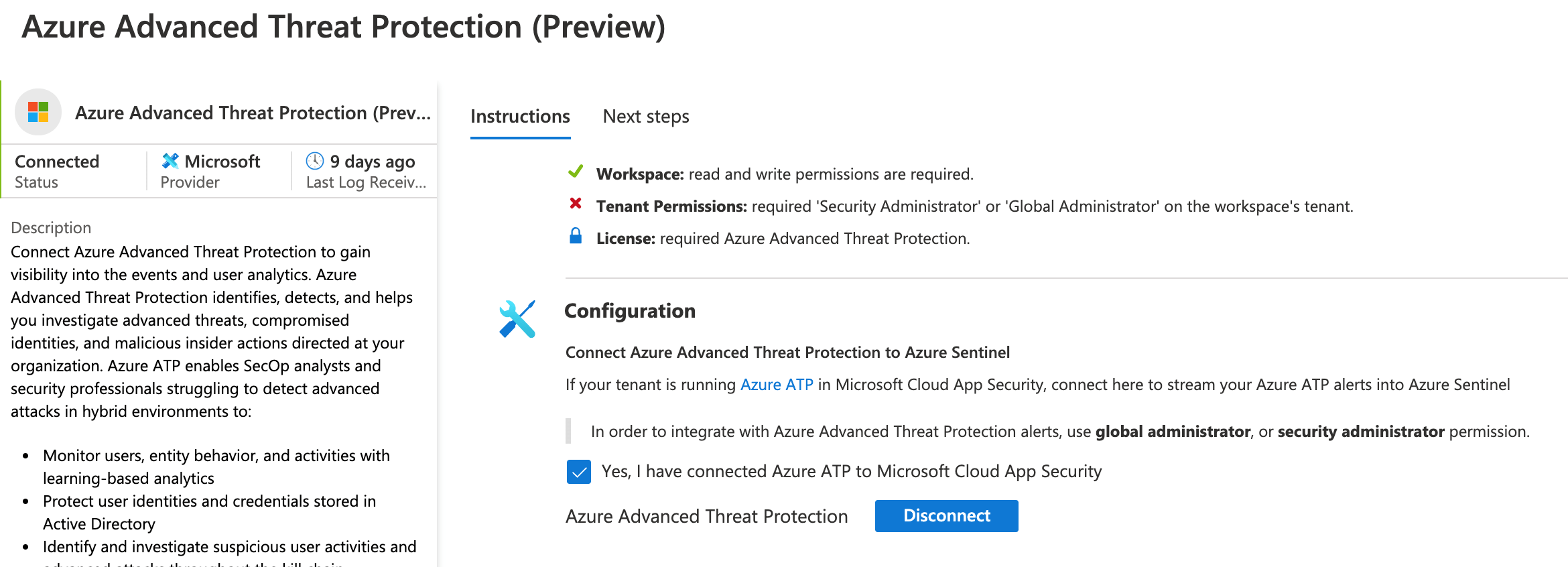 Azure Advanced Threat Protection Preview
